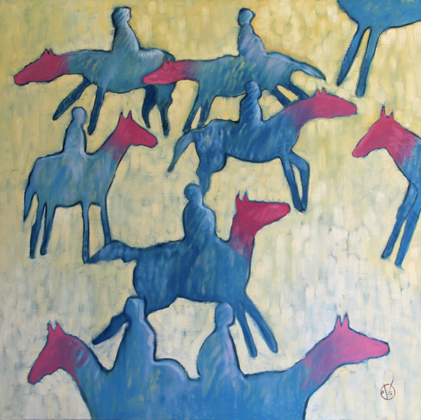 Dennis Schommer Art - Horse of a Different Color 30x30 Oil